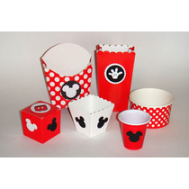 Mickey Mouse Mesa Dulces Cupcake Cajas Cartón Shots Vasos