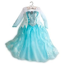 Disney Store Frozen Princesa Elsa Dress Costume 2014