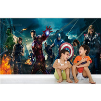 Adesivo Papel Parede Infantil Avenger Vingadores Herois Md7