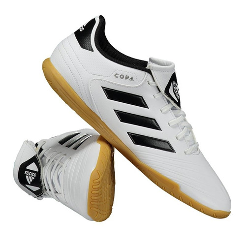 a07ee59fe chuteira adidas copa 18.4 in futsal branca. Carregando zoom.