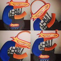 Adorno De Torta Pista Hot Wheels En Porcelana Fria!!!