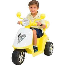 Moto Elétrica Infantil 6v Scooter Acende Farol E Toca Música