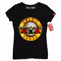 Playera Guns N´ Roses Mujer Oficial Rock Original Metal