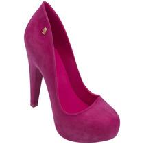Melissa Incense Iv Nº 39 Flocada Sapato Alto Sandália Ad