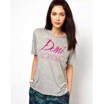 Camiseta Demi Lovato 2014 - A Melhor Qualidade Do Mercado!
