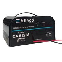 Carregador De Bateria Manual 12v Carro Ou Moto Alleco Ca612m