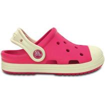 Zapato Crocs Infantil Bumper Toe Clog Rosa/blanco