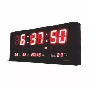 9504c43b931 Relógio De Parede Digital Painel Led Medio