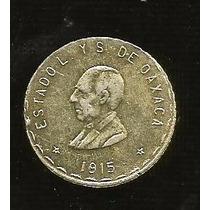 Un Peso Oaxaca Plata 1915 (cinco)