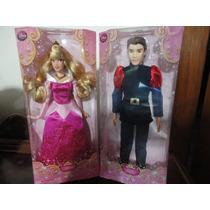 Aurora E Príncipe Phillip Bonecos Disney Originais 30 Cm