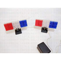 Estrobos De 24 Leds Azul, Blanco, Rojo Tipo Policía