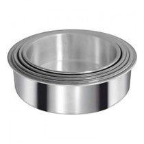 Combo Tortera Alta Molde Torta Aluminio N 30, 24 Y 18 Cm