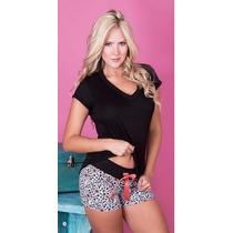 Pijama Short Y Camiseta Elaborada En Algodón 2189 Nuevo