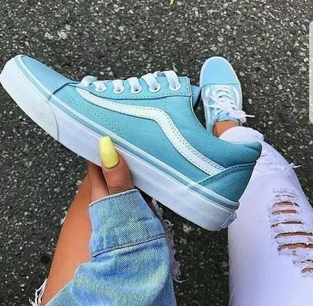 879f96474a0 Tênis Vans Old Skool Azul Bebê - Origina - R  189