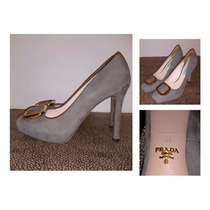 Zapatillas Prada Originales Cement Suede Buckle Platform