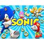 Kit Imprimible Sonic Diseña Cumples Tarjetas Y Mas 2x1