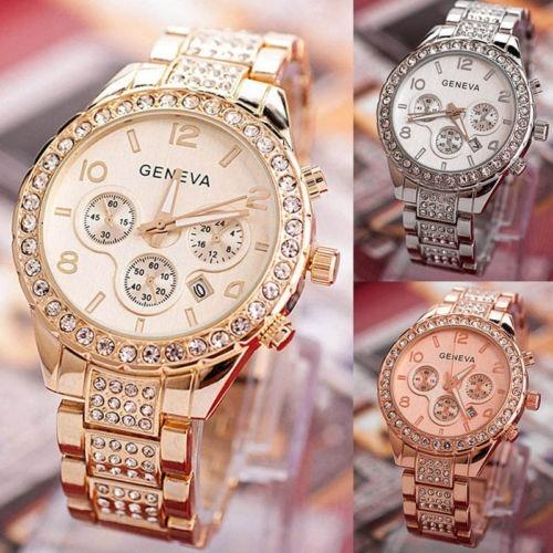 Reloj De Pulsera Geneva De Lujo Para Dama -   299.00 en Mercado Libre c3aa57a9b2c3
