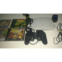 Playstation 1 One Completo Em Perfeito Estado!