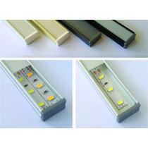 Perfil Aluminio Tira De Led Simple Doble 3528 5050 5630 1mt