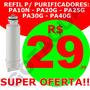 Filtro Refil Vela Purificador De Água Pa10 Pa20 Pa30 Pa40