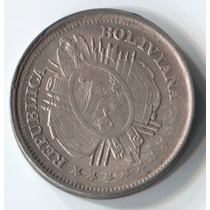 Bolivia 20 Centavos De 1889 De Plata (112p)