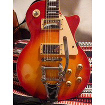 Guitarra Electrica Les Paul Harrision Enconlado Bigsby Funda