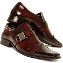 Sapato Social Masculino Envernizado Brilhoso Couro Legitimo