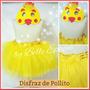 Disfraz De Pollito: Pollerita+careta