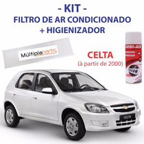 Kit Celta: Filtro De Ar Condicionado + Spray Higienizador