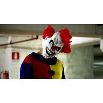 Máscara Latéx Palhaço Assassino It Terror Pegadinha C Cabelo