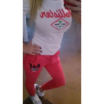 Jogging Joginetta Pantalones De Algodon Abercrombie Mujer