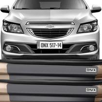 Kit Adesivo Soleira Premium Resinada Porta Chevrolet Onix