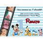 50 Convite De Aniversário 10x15 Mickey C/ Foto 48horas
