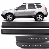 Kit Jogo Friso Lateral Duster 2010 A 2015 Preto Borrachão