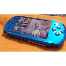 Psp 3001 Azul Edição Limitada Invizimals + 8gb E Carregador.