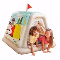 Barraca Tenda Toca Cabana Inflável Infantil Intex + Inflador