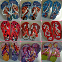 20 Pares Chinelo Estampado Com Personagens Infantis.