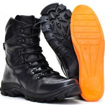 Bota Militar Tatico Coturno Masculino Feminino Couro Airsoft