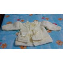 Casaquinho+sapatinho De Bebê Em Trico Feito À Mão