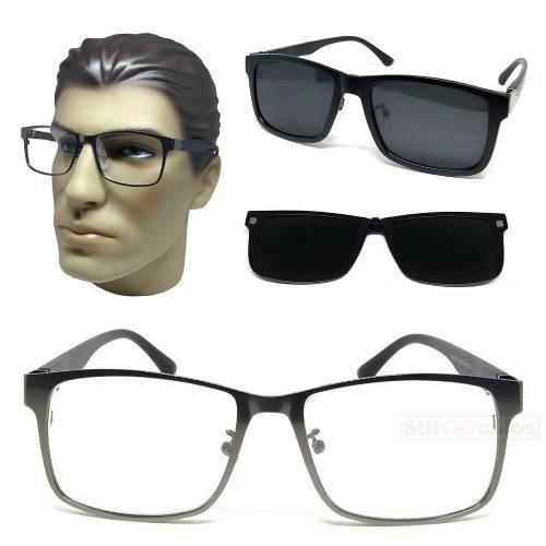 9117b2348a0a5 Armação Óculos Grau Clip On 2 Em 1 Metal Polarizado Unissex - R  155,00 em  Mercado Livre