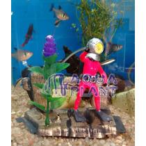 Enfeite Para Aquários Oxigenador -mergulhador