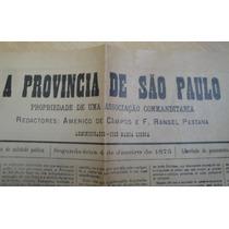 Raridade Jornal Do Estado De São Paulo Jorgetrens