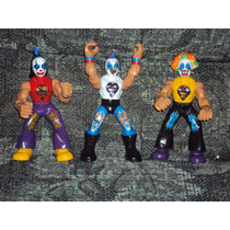 Lote 3 Luchadores Psycho Circus Psycho Clown Muñeco Patones
