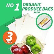 Bagibobs 3-pack De Algodón Reutilizable Producir Bolsas - Gr