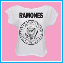 Blusa Feminina Infantil Ramones, Rock, Banda, Música