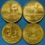 4 Conmemorativas 2 Sesquicentenario Y 2 De Zabala En Un Lote