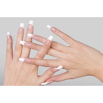 Kit Unhas Postiças Brancas Tips 100 Unids Nails + 01 Cola 7g