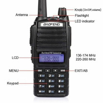 Radio Walkie Talkie De Doble Banda Baofeng Uv-82 Vhf/uhf