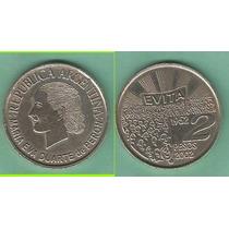 Moneda 2 Pesos Evita 2002 Sin Circular