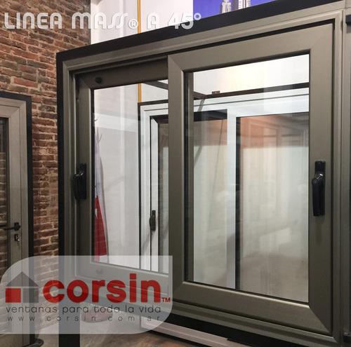 Ventanas de aluminio dvh cerramientos modena a30new corsin for Cuanto cuesta poner una puerta interior